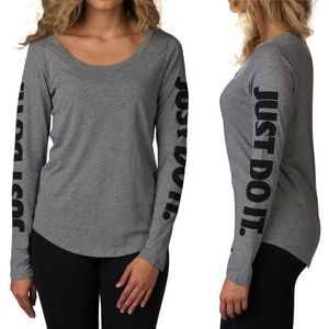 Nike Just Do It Graphic Long Sleeve Tee T-shirt